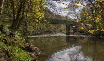 Bridge over the River Irwell, near Nuttall Park in Ramsbottom