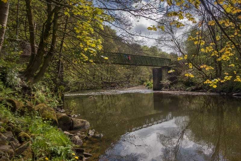 Bridge over the River Irwell, near Nuttall Park in Ramsbottom