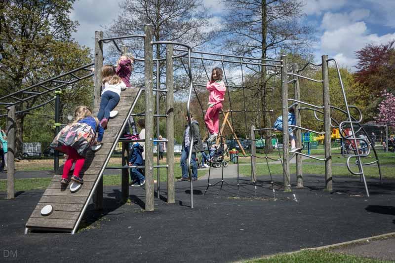 Climbing frame at Nuttall Park