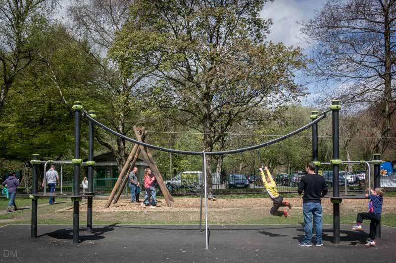 Playground at Nuttall Park, Ramsbottom.