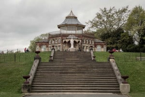 Dalton Steps, Boer War Memorial and Pavilion at Mesnes Park in Wigan.