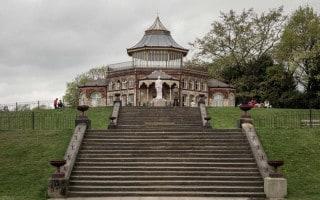 Dalton Steps, Boer War Memorial and Pavilion at Mesnes Park in Wigan.