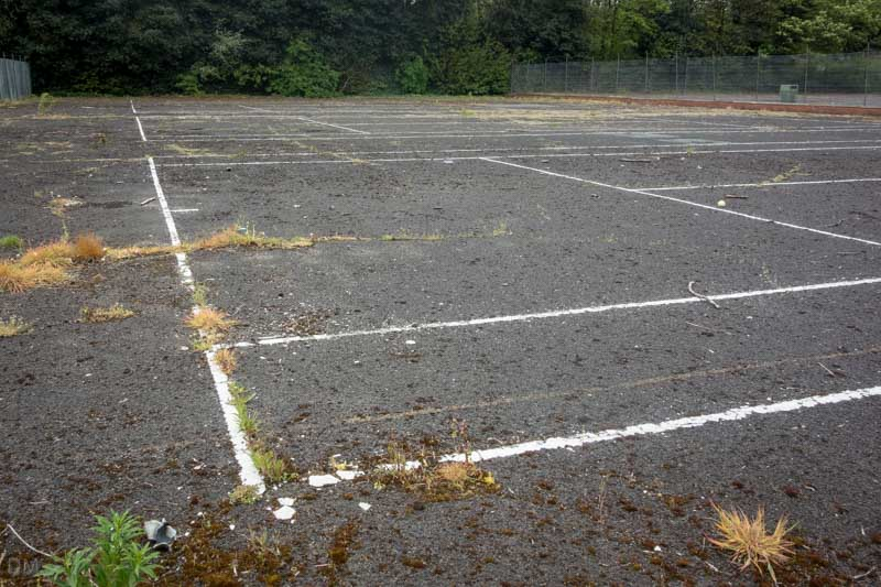 Tennis courts at Mesnes Park, Wigan.