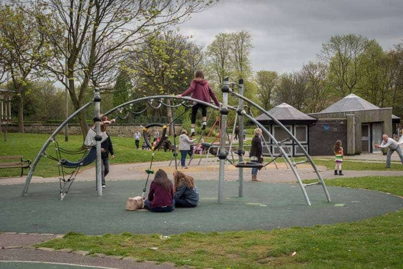 Playground at Mesnes Park in Wigan.