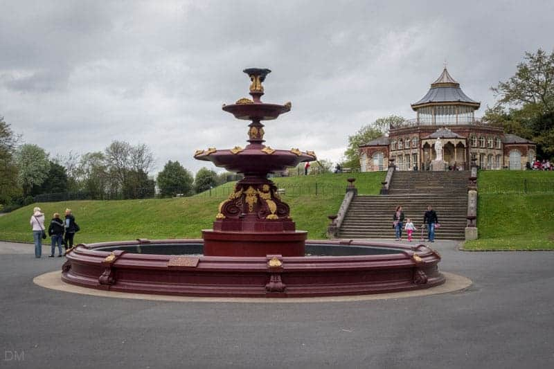 Coalbrookdale Fountain at Mesnes Park in Wigan.