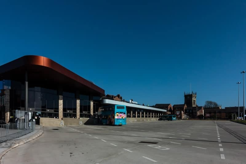 Exterior of Wigan Bus Station