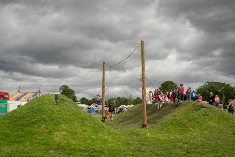 Rope swings at Astley Park in Chorley