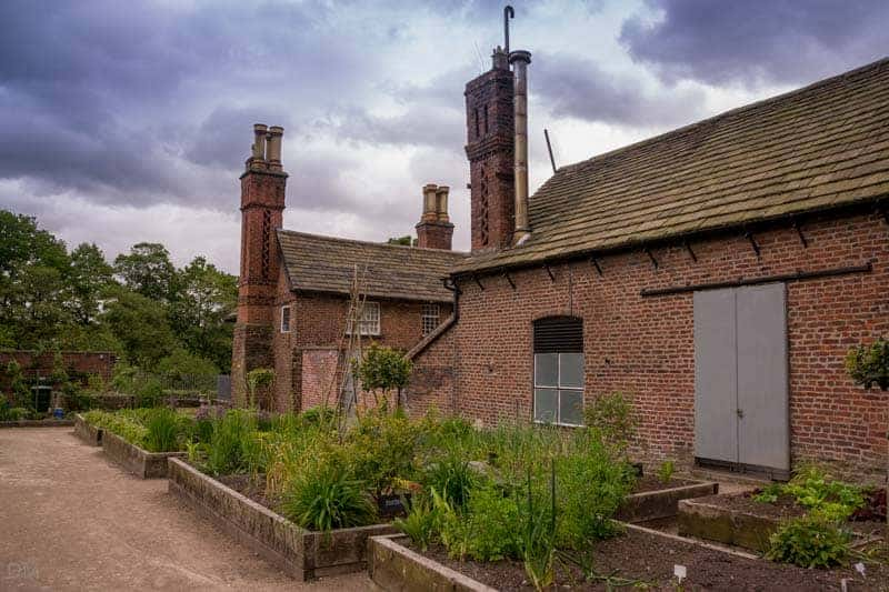 Herb gardens at the Walled Garden, Astley Hall and Park, Chorley, Lancashire
