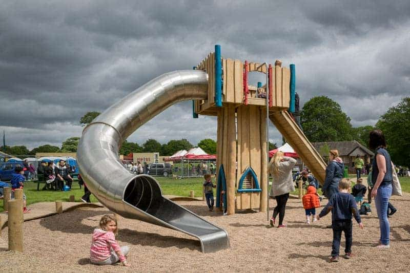 Slide at Astley Park play area in Chorley,Lancashire