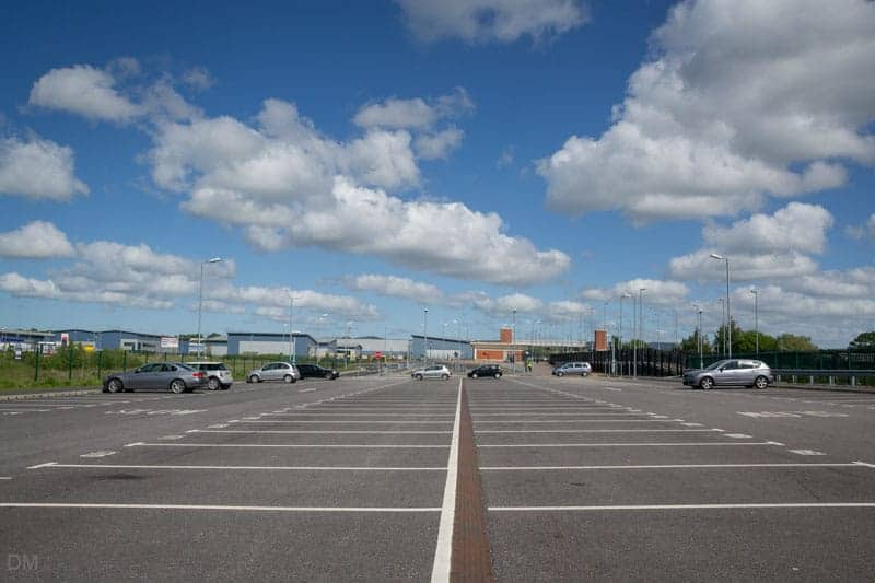 Park-and-ride car park at Buckshaw Parkway Train Station, near Chorley