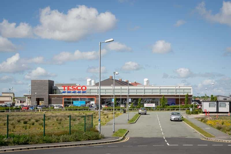 Tesco at Buckshaw Village viewed from Buckshaw Parkway Train Station