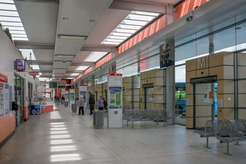 Interior of Chorley Bus Station at Chorley Interchange, Lancashire