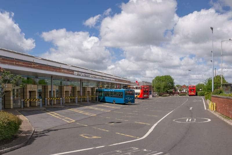 Buses at Chorley Bus Station