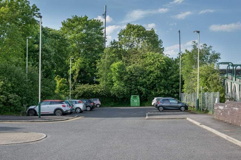 Car park at Euxton Balshaw Lane Train Station