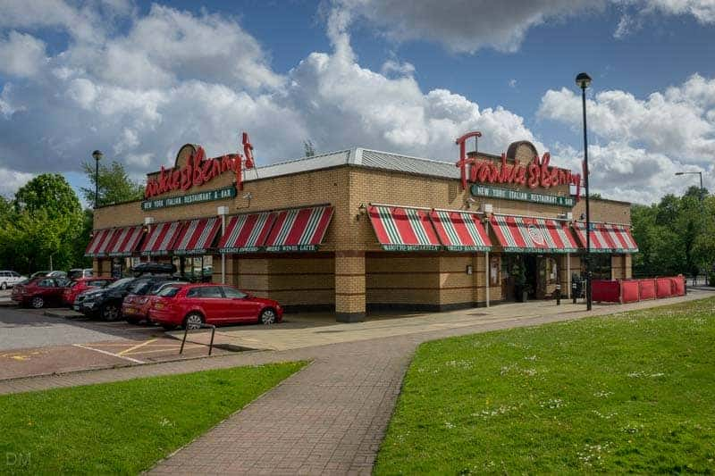 Frankie & Benny's Italian restaurant at The Valley in Bolton, Greater Manchester