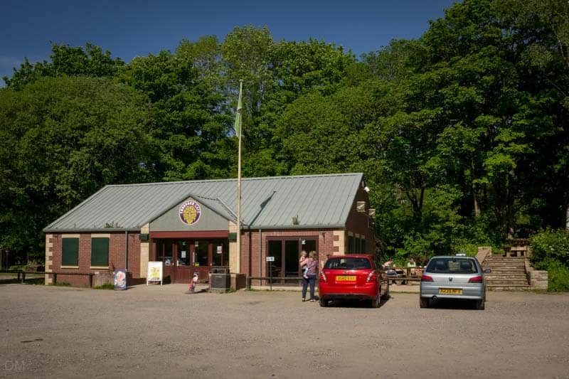 Visitor Centre and Treeface Cafe at Yarrow Valley Country Park