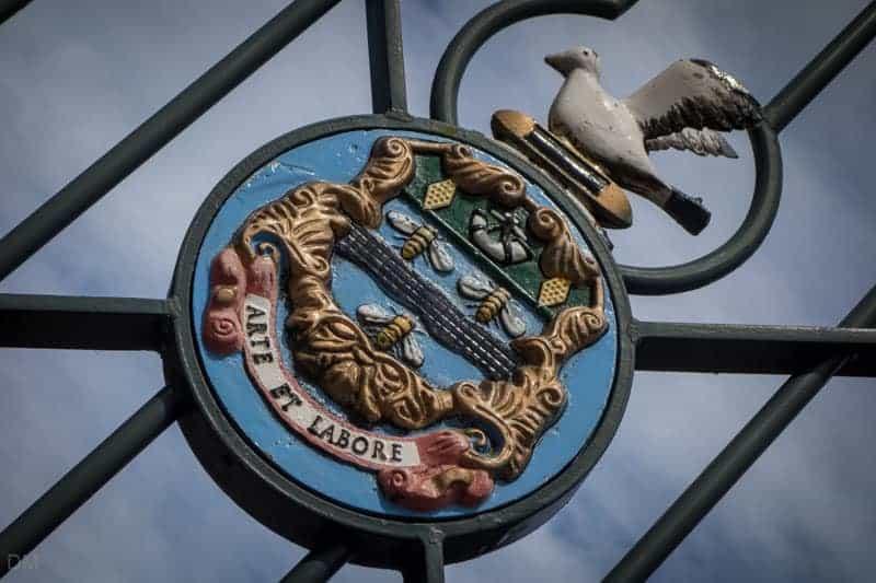 Blackburn Coat of Arms, Corporation Park, Blackburn, Lancashire