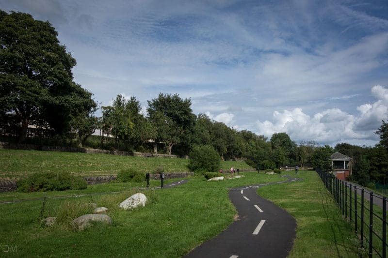 Cycle Track in Corporation Park, Blackburn