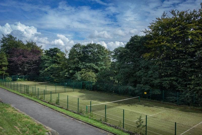 Tennis Courts at Corporation Park in Blackburn, Lancashire