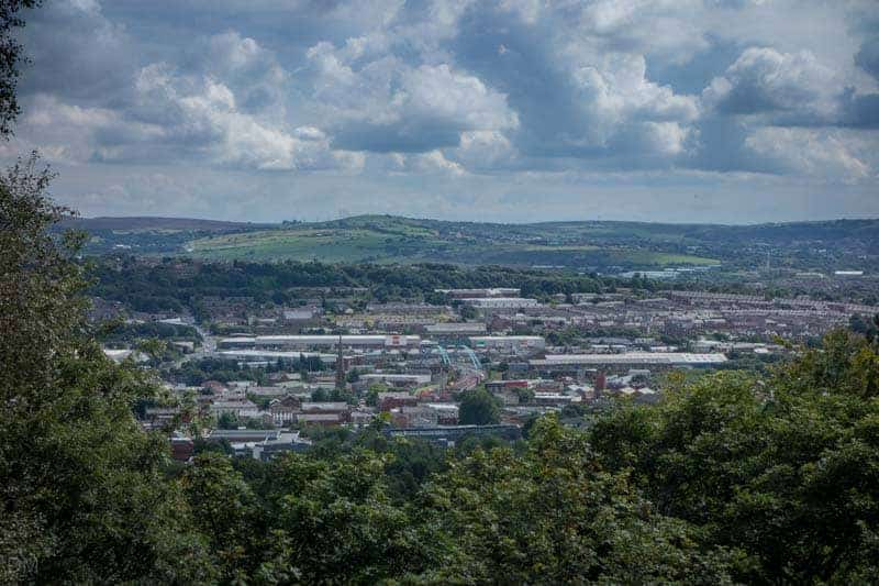 View of Blackburn from Colourfields