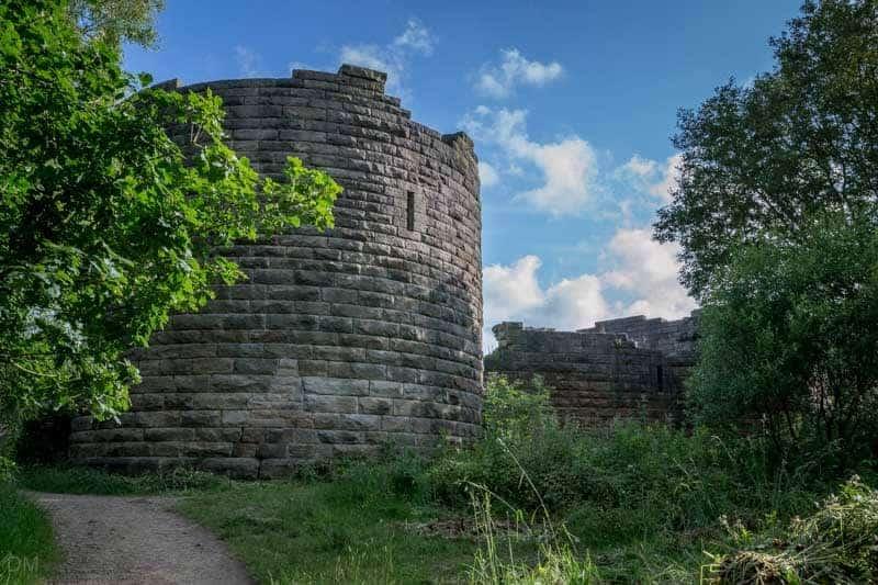 North West Tower - Exterior View, Liverpool Castle, Rivington
