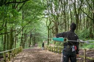 Zip Wire at Go Ape, Rivington, Bolton
