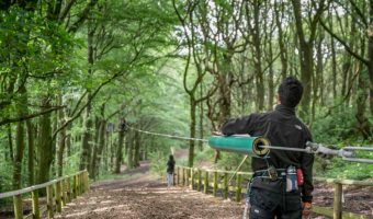 Zip Wire at Go Ape, Rivington, Bolton