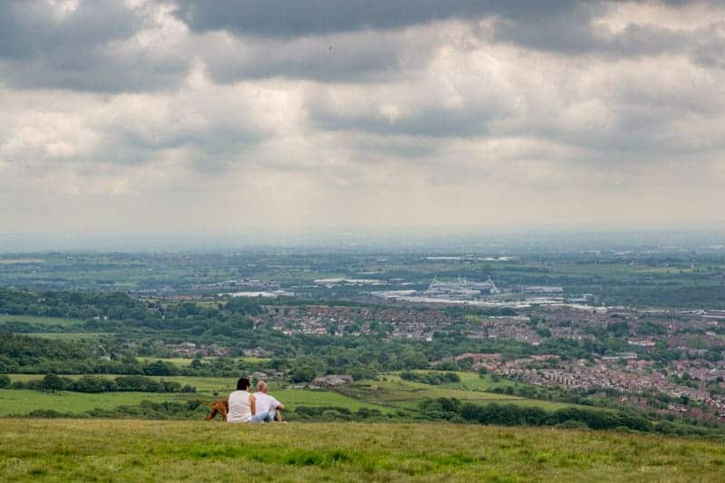 View of the Macron Stadium from Rivington Pike