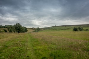 Cloudy day on Darwen Moor, near Blackburn, Lancashire