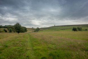 Cloudy day on Darwen Moor, near Blackburn, Lancashire