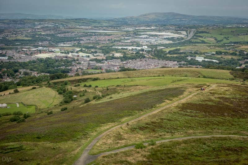 View of Blackburn from Darwen Tower, Lancashire