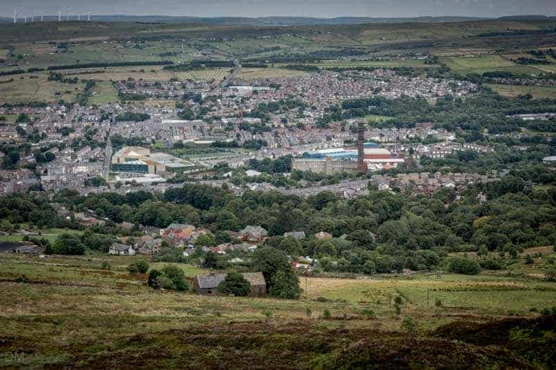 View of Darwen - India Mill and Darwen Leisure Centre can clearly be seen