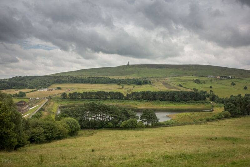 Earnsdale Reservoir and Darwen Tower