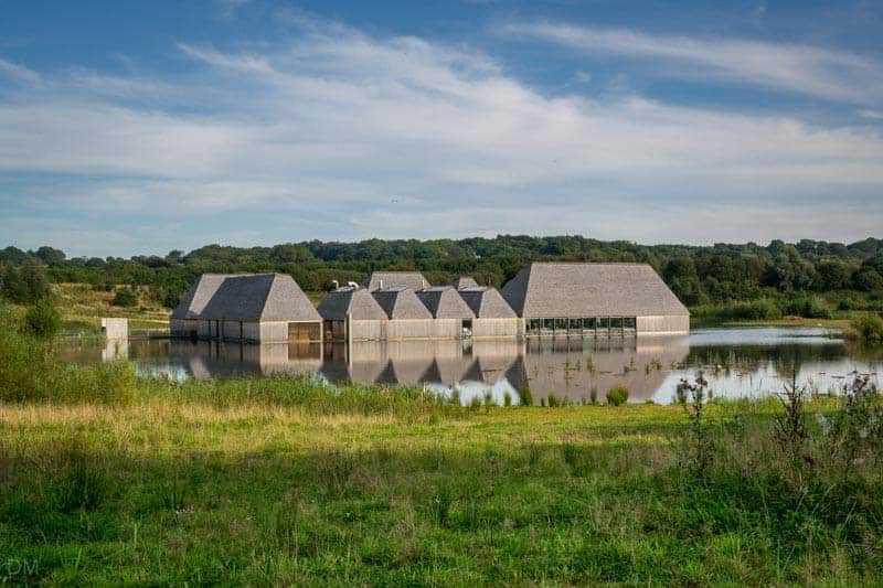Visitor Village floating pontoon at Brockholes nature reserve near Preston