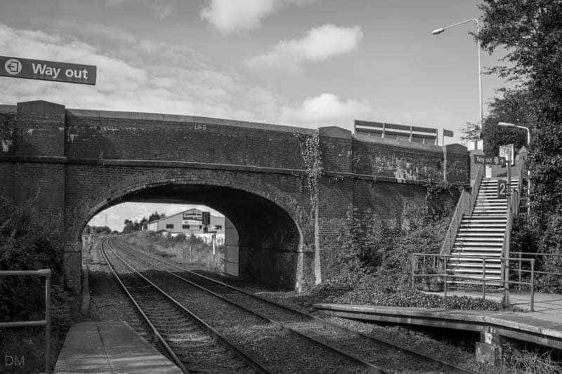 Steps to Watkin Lane at Leyland Railway Station, Lancashire.