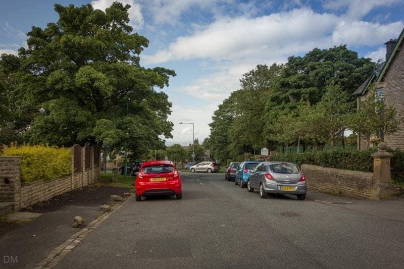 Parking at Hollins Lane entrance to Oak Hill Park in Accrington