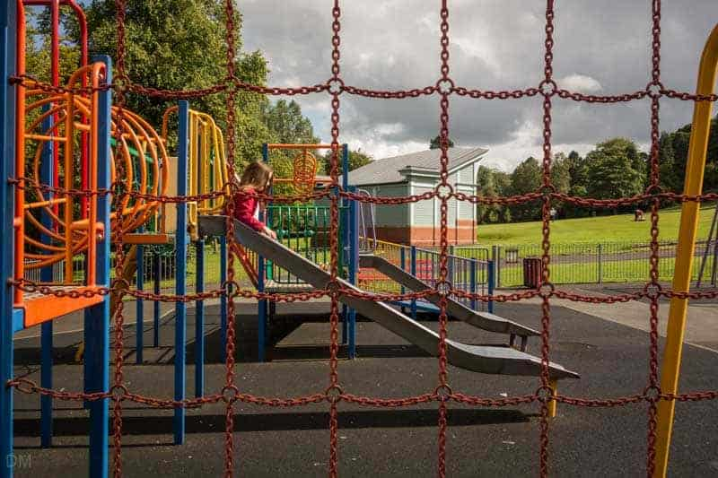 Playground and Bandstand at Oak Hill Park, Accrington