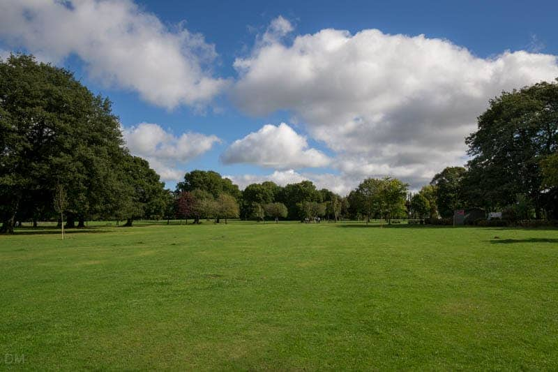 Field at Worden Park in Leyland, Lancashire