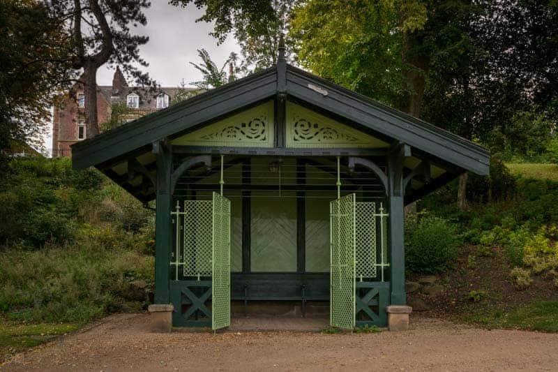 Swiss Chalet at Avenham Park in Preston.