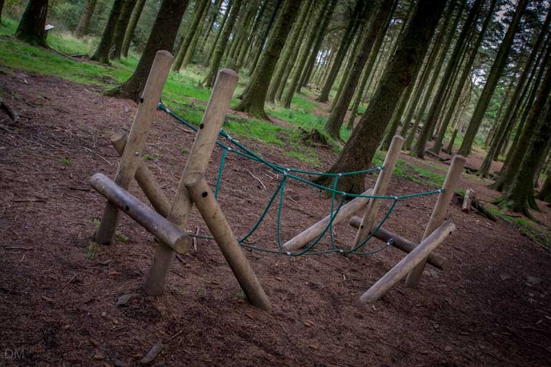 Rope bridge in children's play area at Beacon Fell Country Park