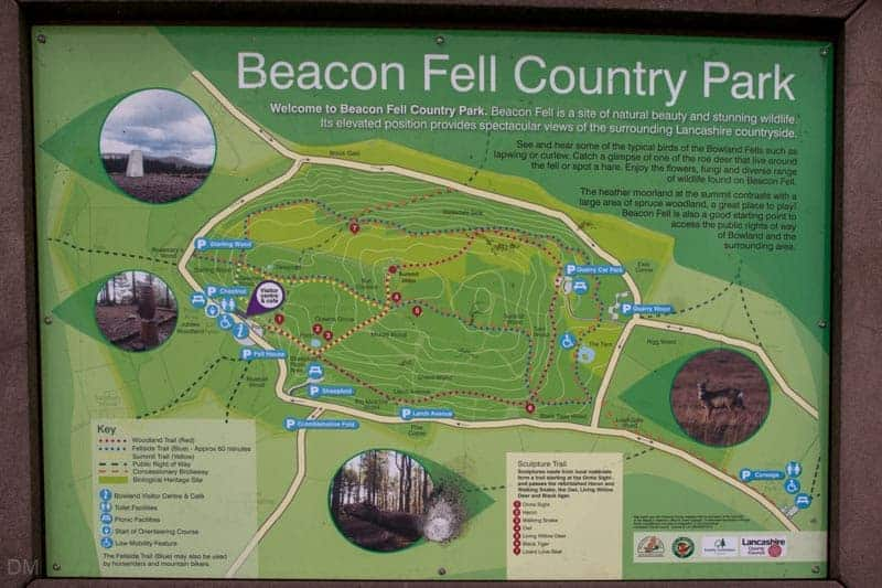 Map of Beacon Fell Country Park