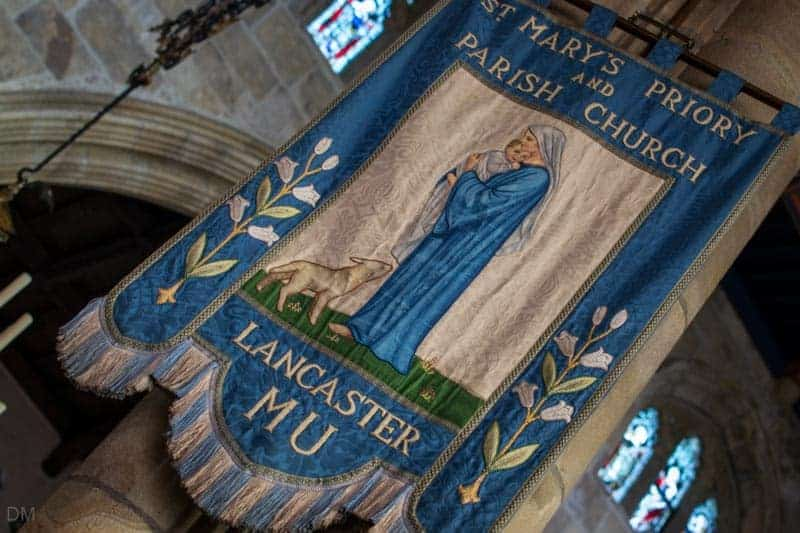 Banner in Lancaster Priory church.
