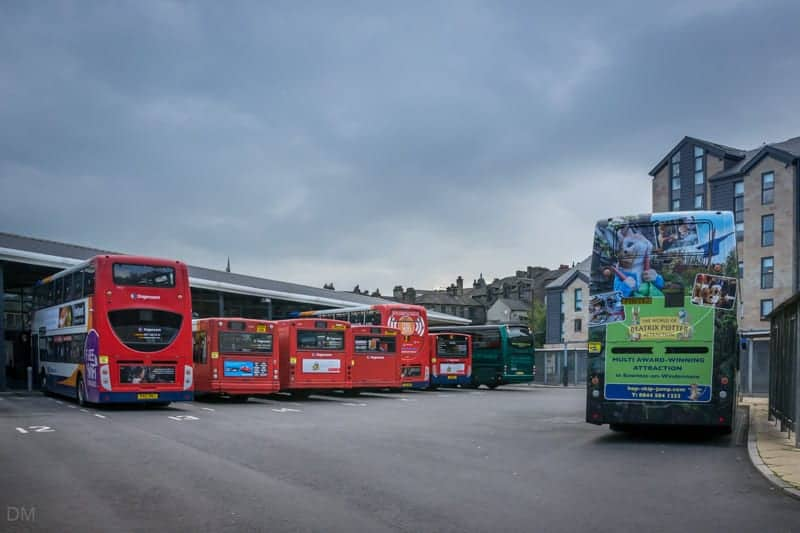 Buses at Lancaster Bus Station
