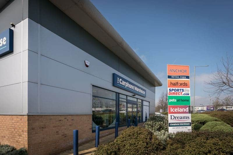Carphone Warehouse at Anchor Retail Park in Burnley, Lancashire