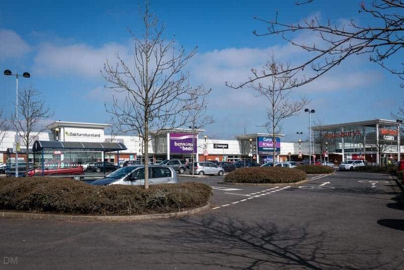 Prestige Retail Park, Burnley, Sainsbury's, Currys PC World, Oak Furniture Land, Bensons For Beds