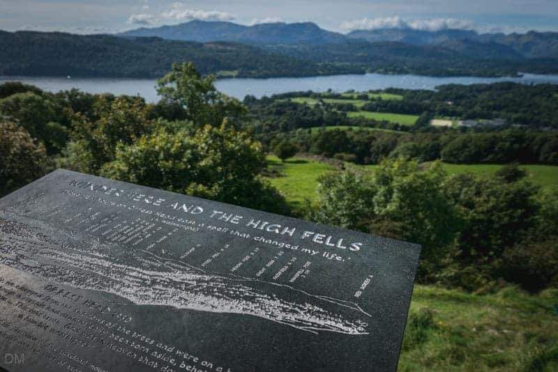 Alfred Wainwright toposcope at Orrest Head, Windermere