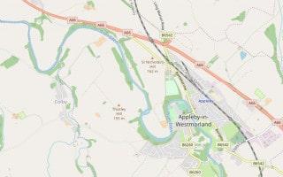 Map of Appleby-in-Westmorland, Cumbria