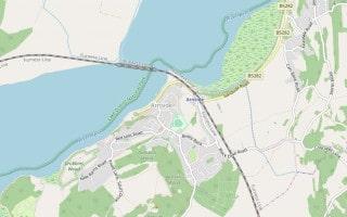 Map of Arnside in Cumbria