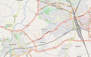 Map of Crewe and Nantwich