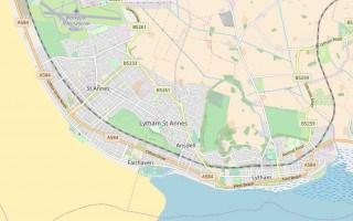 Lytham St Annes map